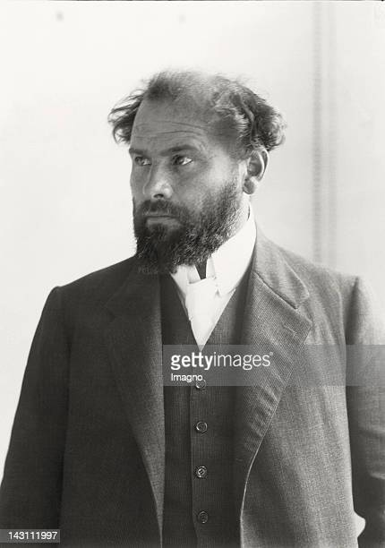 The Austrian painter Gustav Klimt Photograph Around 1908