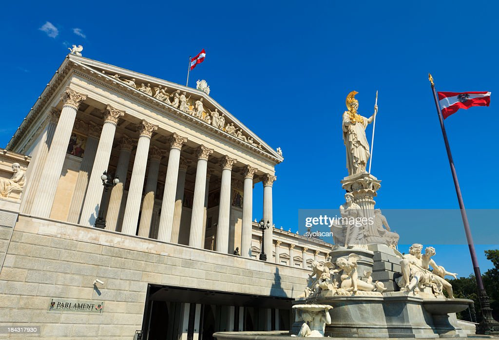 The Austrian Parliament Building : Stock Photo