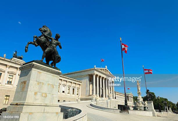 the austrian parliament building - austrian culture stock pictures, royalty-free photos & images