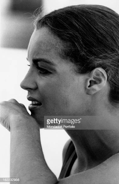 The Austrianborn French actress Romy Schneider posing on the set of the film 'La Califfa' Parma 1970