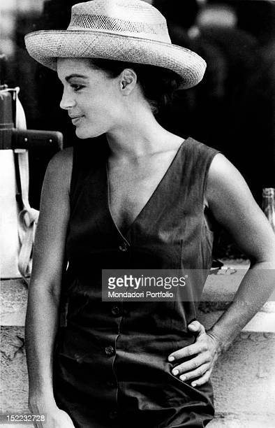 The Austrianborn French actress Romy Schneider taking a break during the shooting of the film 'La Califfa' Parma 1970