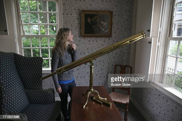 The author inside the Mitchell house in a room that has Mitchell's telescope on display Author Amy Brill has a new novel 'The Movement of Stars' The...