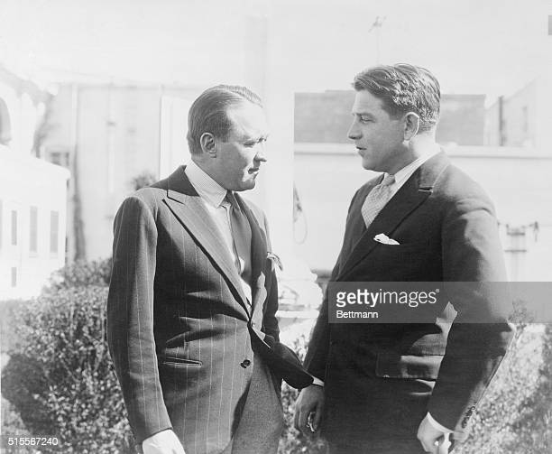 The authors of two of the most successful plays now running in New York meet on the Metro -Goldwyn-Mayer lot in California. Edmund Goulding co-author...