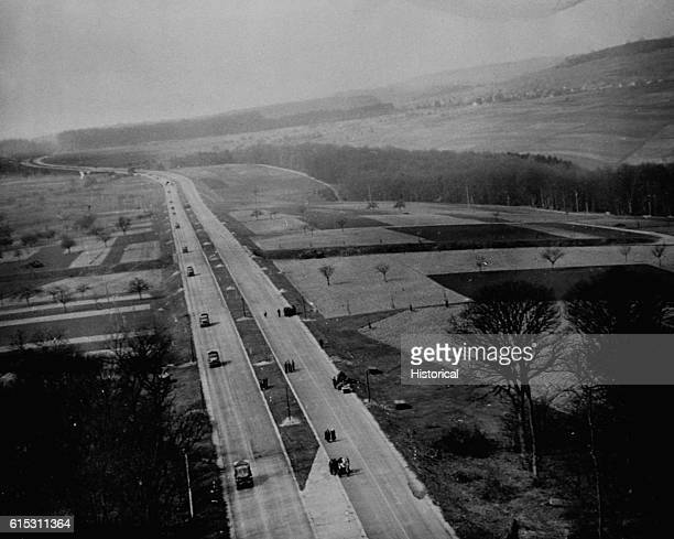 The Autobahn built to carry Hitler's conquering armies to glory now carries his conquerors