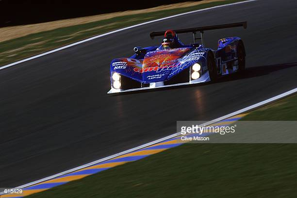 The Autoexe Mazda team of Terada Downing and Fergus in action during the Le Mans 24 Hours Test Day held at the Circuit De La Sarthe in France on May...
