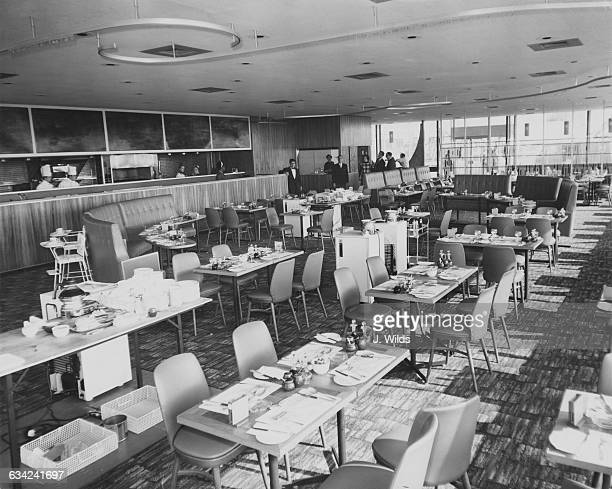 The Autogrill restaurant at the new Forte's Airport Hotel near London Airport UK 10th March 1964 The hotel is due to open on March 12th