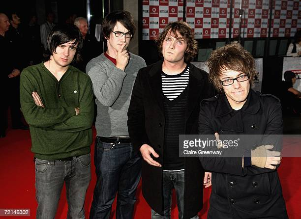 The Automatic band members arrive at the Vodafone Live Music Awards at The Roundhouse on October 11 2006 in London England The ceremony celebrates...