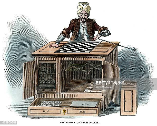 'The Automaton Chess Player' 1845 Illustration published in The Illustrated London News