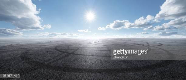 the automobile advertising background - airport runway stock pictures, royalty-free photos & images