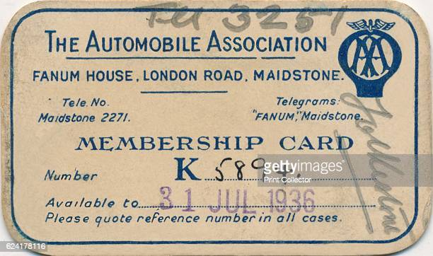 Membership card' 1936Artist Unknown