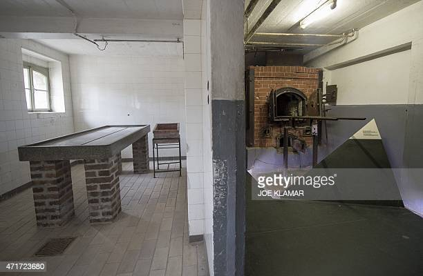 The autopsy room and the crematorium oven that was used by the Gestapo are pictured at the former Nazi concentration camp Mauthausen northern Austria...