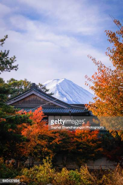 The Autumn of Mt.Fuji with A Local House