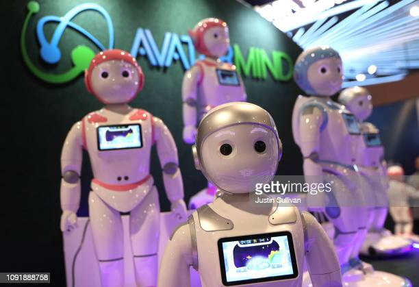 The AvatarMind iPAL Robot is displayed at the AvatarMind booth during CES 2019 at the Las Vegas Convention Center on January 9 2019 in Las Vegas...