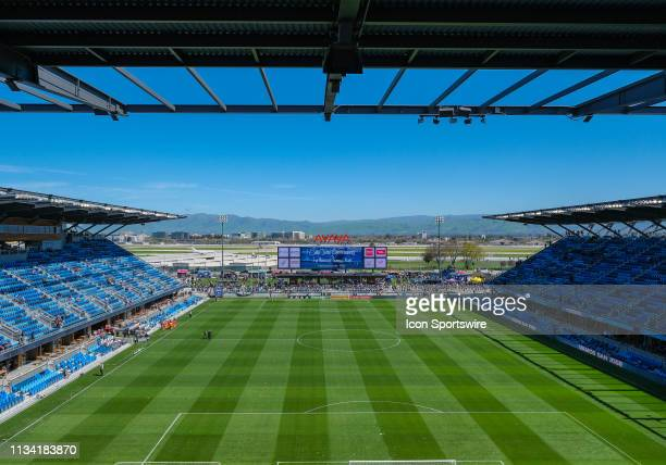 The Avaya Stadium before the match between the San Jose Earthquakes and the Los Angeles Football Club on Saturday March 30 2019 at the Avaya Stadium...