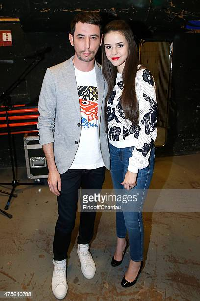 'The Avener' Tristan Casara and singer Marina Kaye attend the 'Vivement Dimanche' French TV Show at Pavillon Gabriel on June 2 2015 in Paris France