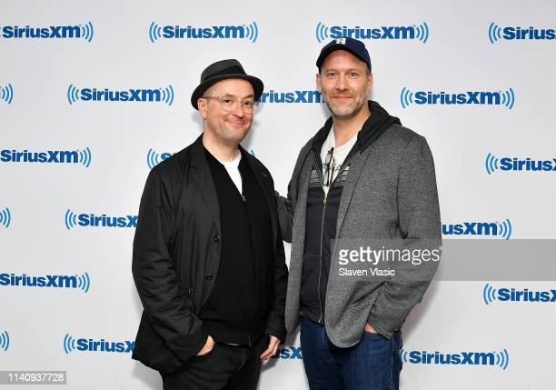 The Avengers Endgame screenwriters Christopher Markus and Stephen McFeely visit SiriusXM Studios on May 3 2019 in New York City