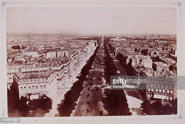 The Avenue ChampsElysees in Paris circa 1880s1890s