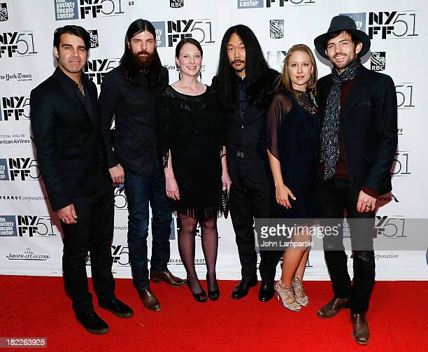 The Avett Brothers attend the 'Inside Lleywn Davis' permiere during the 51st New York Film Festival at Alice Tully Hall at Lincoln Center on...