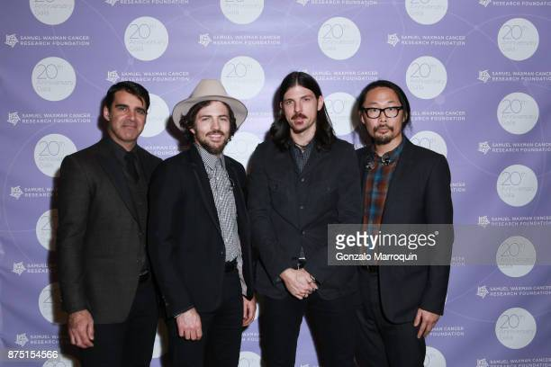 The Avett Brothers during the Samuel Waxman Cancer Research Foundation's COLLABORATING FOR A CURE 20th Anniversary Gala on November 16 2017 in New...