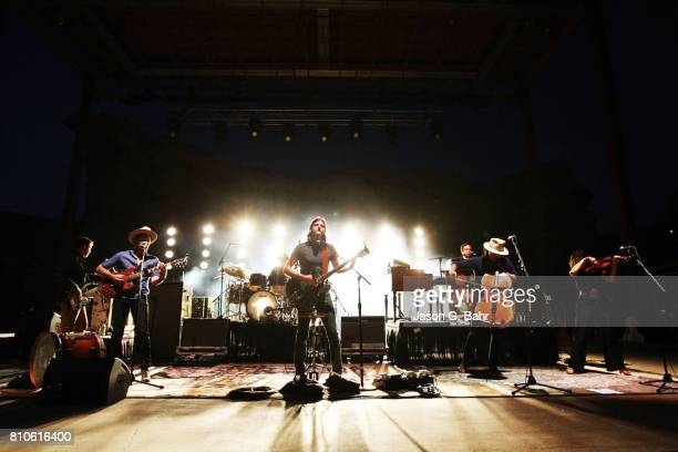 The Avett Brothers perform at Red Rocks Amphitheatre on July 7 2017 in Morrison Colorado