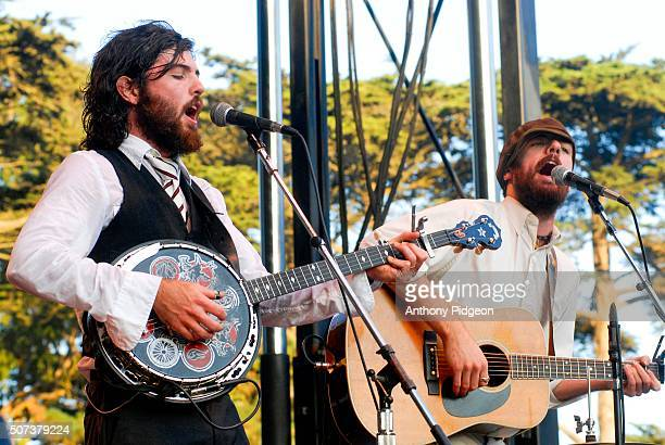 The Avett Brothers perform onstage at the Hardly Strictly Bluegrass Festival Golden Gate Park in San Francisco California USA on 7th October 2006