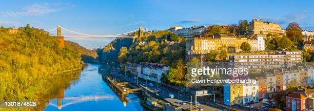 the avon gorge, clifton suspension bridge, clifton, and hotwells, bristol, england, united kingdom, europe - gavin hellier stock pictures, royalty-free photos & images