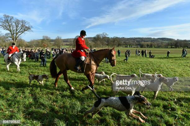 The Avon Vale Hunt gets underway on December 26 2017 in Lacock England Prime Minister Theresa May is reported to have scrapped an election pledge to...