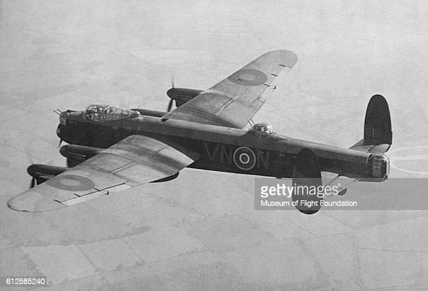 The Avro Lancaster heavy bomber was extensively used by England during World War II where the plane flew 156000 sorties