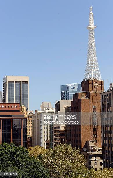 The AWA tower, completed in 1939, looms over Wynyard Park in Sydney on February 9, 2010. For over 20 years the AWA building with its distinctive...