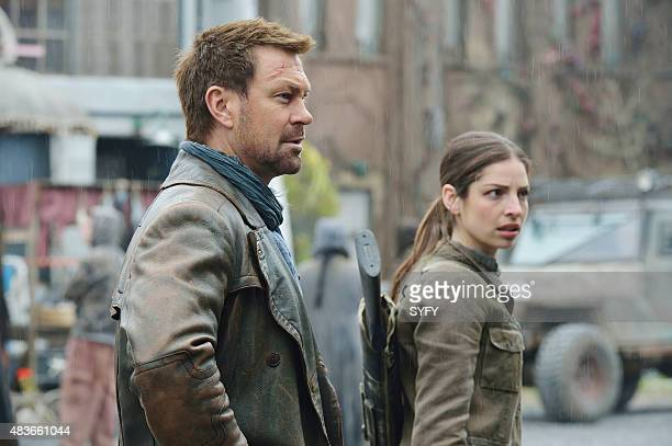 DEFIANCE The Awakening Episode 312 Pictured Grant Bowler as Joshua Nolan Anna Hopkins as Jessica Berlin Rainer