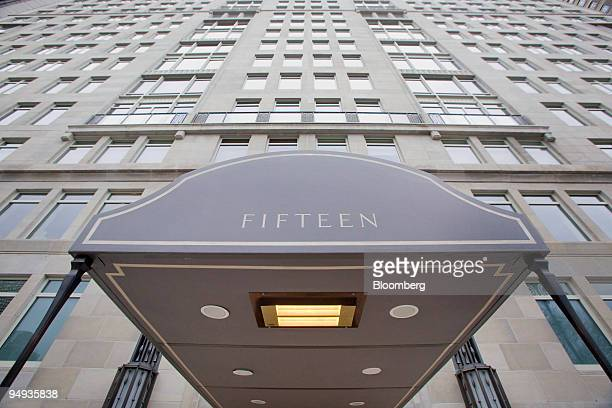 The awning for 15 Central Park West extends from the luxury condominium building in New York US on Tuesday Jan 6 2009 Manhattan apartment sales fell...