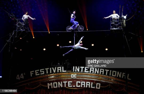 The Ayala troupe performs during the gala of the 44th MonteCarlo International Circus Festival in Monaco January 22 2020