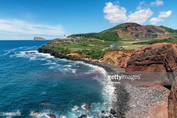 las azores - hermosa costa - azores fotografías e imágenes de stock