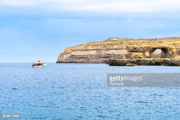 The Azure Window was a limestone natural arch on the Maltese island of Gozo