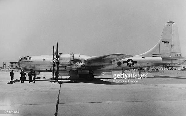The B 29 Superfortress In The Runway At Us Navy In Usa