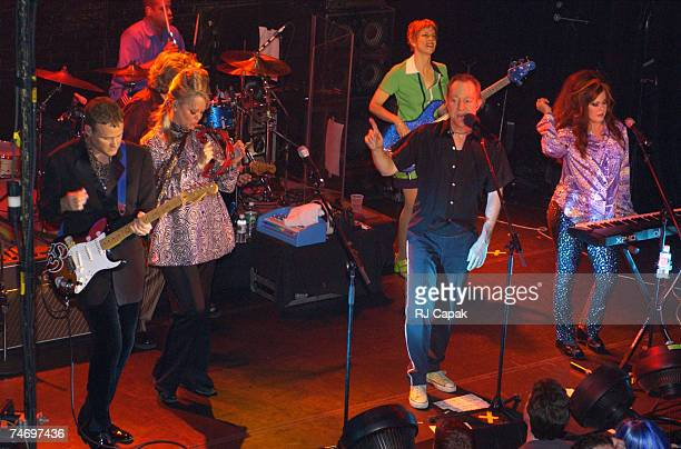 The B52's performing during B52's 25th Anniversary Concert at the Irving Plaza in New York NY
