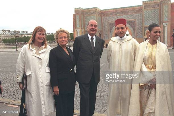 The Bab El Mansur Gate is inaugurated C Feff the Chiracs Sidi Mohamed and his elder sister