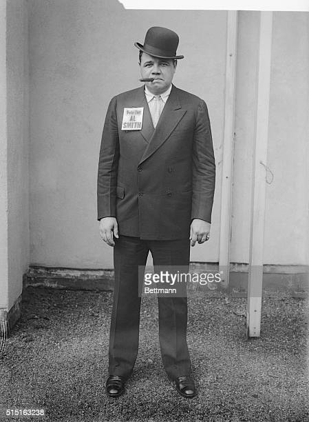 The Babe Dons the Brown Derby New York New York A number of sports champions have come into the open and announced themselves for Al Smith the...
