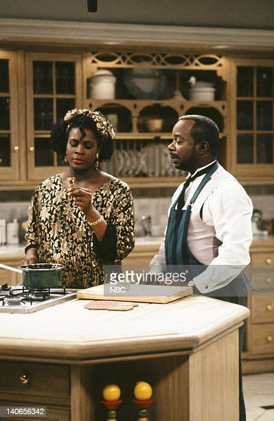 AIR The Baby Comes Out Episode 20 Pictured Janet Hubert as Vivian Banks Joseph Marcell as Geoffrey Photo by Ron Tom/NBCU Photo Bank