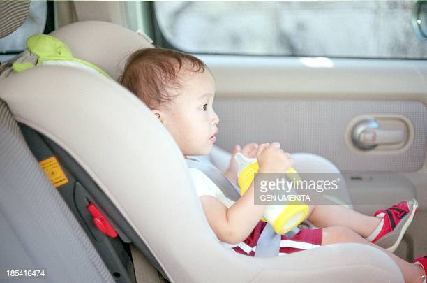 The baby who takes a seat in a car