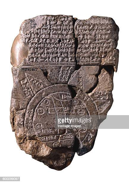 The Babylonian Map of the World c 510c 500 BC Found in the collection of British Museum Artist Assyrian Art