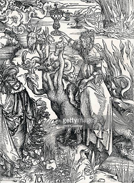 The Babylonish Whore' From The Engravings of Albert Durer by Lionel Cust [Seeley and Co Limited London 1906] Artist Albrecht Durer