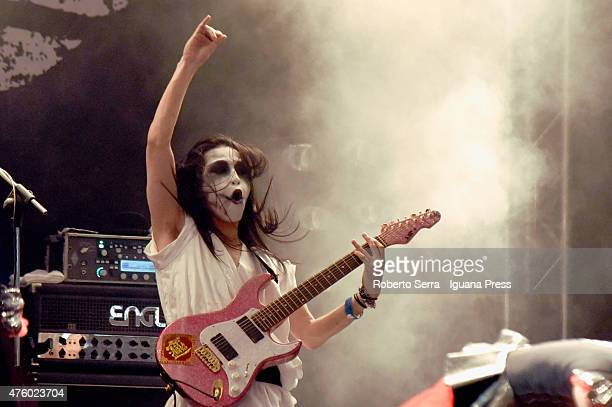The Babymetal performs at Estragn Club on June 5 2015 in Bologna Italy