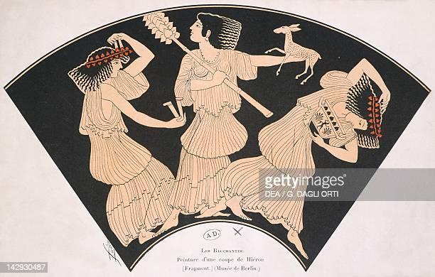 The Bacchantes drawn from a cup by Hierone Greece Greek Civilization Paris Musée Des Arts Decoratifs