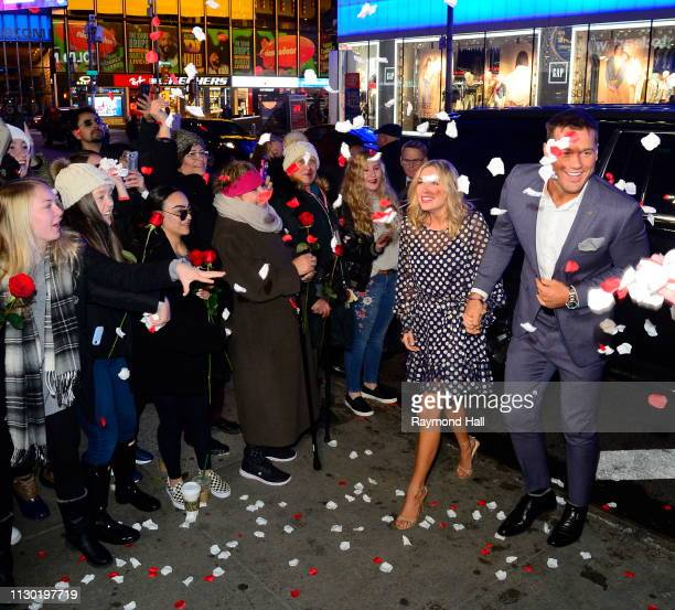 The Bachelor Colton Underwood and Cassie Randolph are seen arriving at Good Morning America on March 13 2019 in New York City