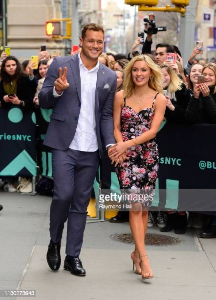 The Bachelor Colton Underwood and Cassie Randolph are seen on March 13 2019 in New York City