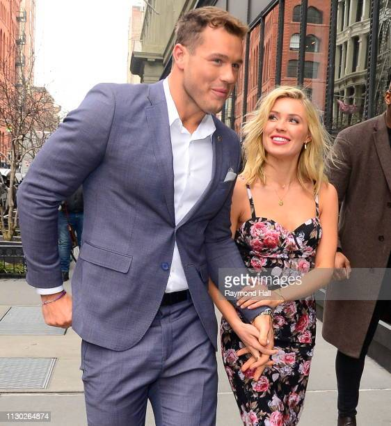 The Bachelor Colton Underwood and Cassie Randolph are seen outside aol build on March 13 2019 in New York City