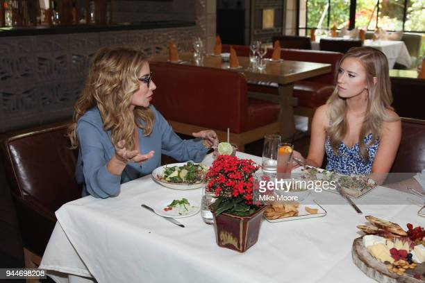 'The Bachelor' star Lauren Burnham speaks with WE tv's 'Marriage Boot Camp Reality Stars Counselor DrV over lunch at the Arizona Biltmore on April 10...