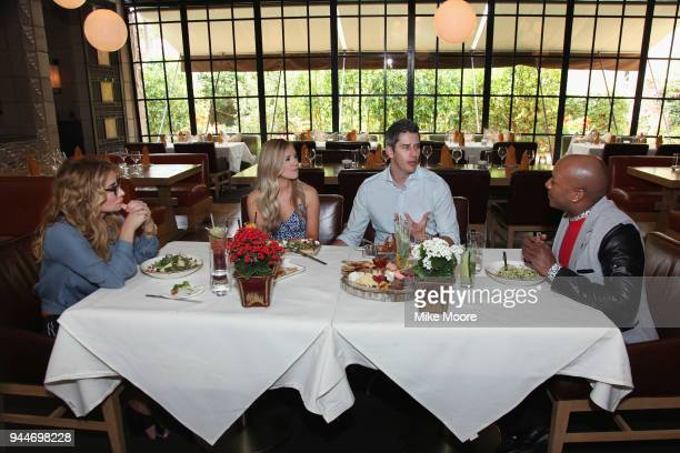 'The Bachelor' stars Arie Luyendyk Jr and his fiancee Lauren Burnham meet with WE tv's 'Marriage Boot Camp Reality Stars Counselors DrIsh and DrV...