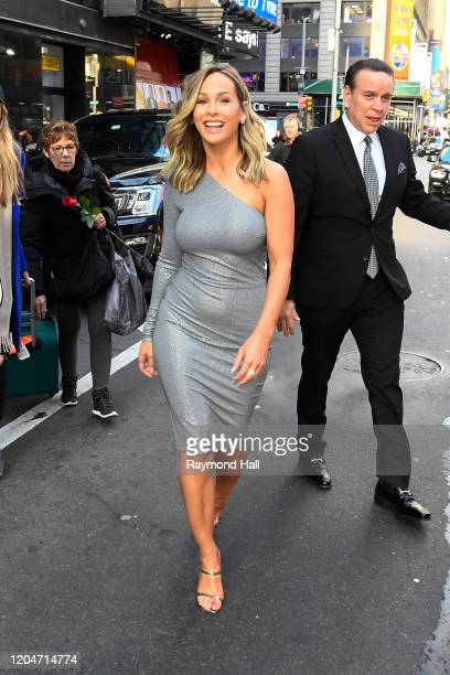 The 'Bachelorette' Clare Crawley is seen outside good morning america on March 2, 2020 in New York City.